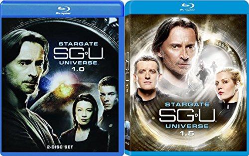 Stargate SG-U Universe Complete Season 1 in 2 parts SG-U 1.0 & 1.5 5-Disc Set on Blu-ray Bundle
