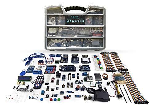 GAR Monster Starter Kit for Arduino Uno Mega Nano, Complete Set with ESP32, 25 Sensor Modules, Bluetooth WiFi Ethernet Wireless for Electronics STEM Robotics Projects