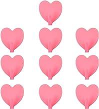 Abcidubxc Zelfklevende haken, 10 stuks, hartvormig, zelfklevende haken, keukenhaken, garderobehaken, zonder boren (maximaa...