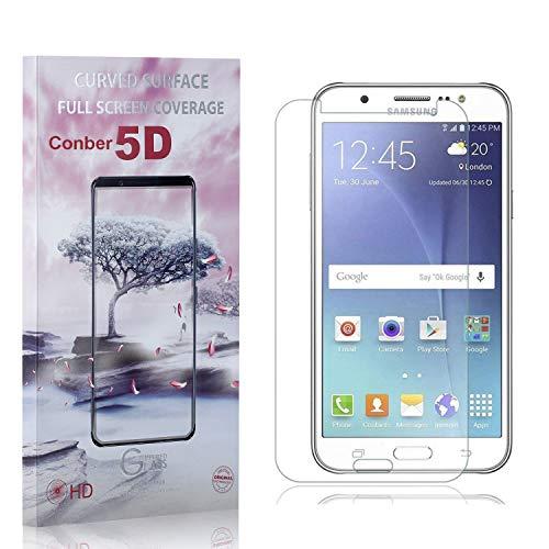 Conber [2 Pièces] Verre Trempé pour Samsung Galaxy J7 2016, [9H Dureté][Haut Définition][sans Bulles] Ultra-résistant Film de Protection écran pour Samsung Galaxy J7 2016