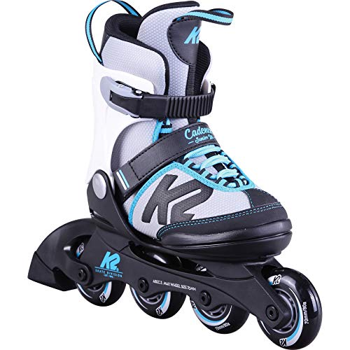 K2 Skates Mädchen Inline Skate Cadence Jr Ltd Girl — black - grey - light blue - pink — M (EU: 32-37 / UK: 13-4 / US: 1-5) — 30D0300