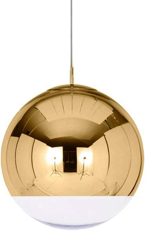Kreativer Einzelkopf Chrom Spiegelkugel Pendelleuchte Globe Hngeleuchte Kronleuchter Scheunenlager Deckenleuchte LED Hngelampe Wohnzimmer Esszimmer Innenflur Art Dekoration Goldenes Silber