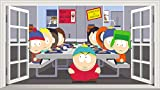 Chicbanners South Park V001 3D Magic Window Wall Sticker