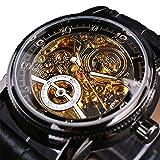 Excellent Relojes para Hombre Hombres Mecánico Automático Afilado Skeleton Skeleton Steel Steel Watch Relojes clásicos para Hombres,A05