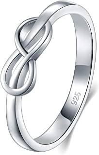 925 Sterling Silver Ring, High Polish Infinity Symbol Tarnish Resistant Comfort Fit..