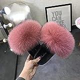 Kirin-1 Pantofole Fuzzy Muli soffici-39_Colore della Sabbia del Fagiolo