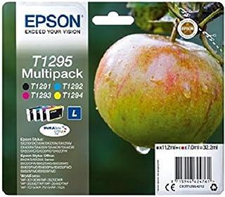 Epson T129 Serie Mela, Cartuccia Originale Getto d'Inchiostro DURABrite Ultra, Formato Standard, Multipack 4 Colori, con A...