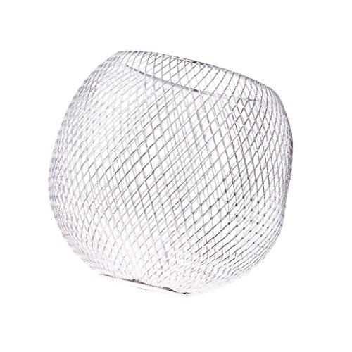 SunniMix Metall Lampenschirm Für Tischlampe Hängeleuchte Deckenleuchte, Geeignet Für Wohnzimmer Esszimmer Küche Restaurant Café Usw. - Silber # 1