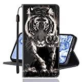 Sinyunron Klapphülle für Handy Xiaomi Mi Mix 3 5G Hülle Leder Brieftasche Handytasche,Klapptasche Lederhülle Hüllen Hülle Schutzhülle Tasche Cover (Hülle-01B)