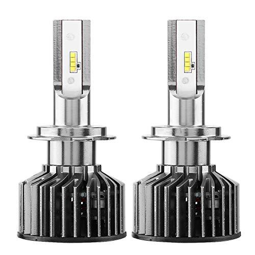 Phare de voiture H7, 1 paire d'ampoules de phare 6000K 55W H7 de kit de phare de voiture automatique superbe lumineuse