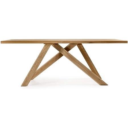 Amazon Brand Kael Table Chêne sauvage huilé naturel 180 x 90 x 75 cm