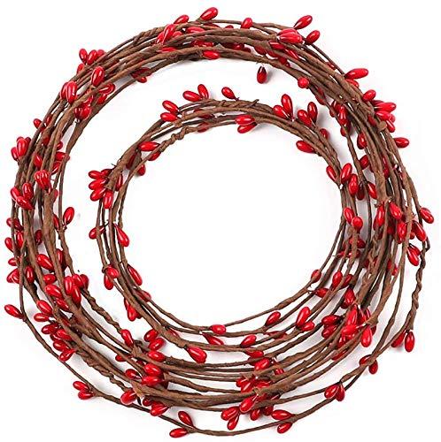 (Kupon DISKON 40%) Red Berry Garland 59ft $ 5,99