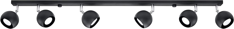 Sollux Lighting LED-Leuchte, Stahl, Schwarz, 10 x 120 x 15