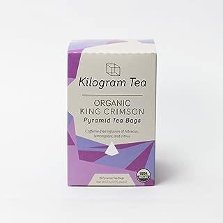 Kilogram Tea - Organic King Crimson Pyramid Tea Bags - Caffeine Free - Sustainably Produced - 15 count box