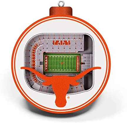YouTheFan NCAA Texas Longhorns Darrell K Royal Memorial 3D Stadium View Ornament Team Colors product image