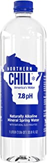 Northern Chill, 1L, 12 pack, Naturally Alkaline Mineral Spring Water, Naturally Filtered Minerals & Electrolytes, BPA Free PET Bottles, This is America's Water