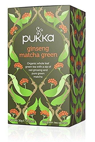 Pukka - Té verde matcha con ginseng - 4548-20 bolsitas-Pukka