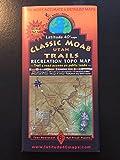 Classic Moab Utah Trails Recreation Topo Map (Trail & Road Access on Public Lands)