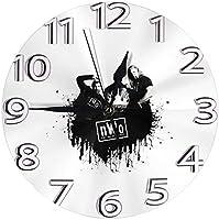 フレームなしの円形の壁時計nwoミュート掛け時計屋内壁の装飾デスクトップジュエリークリエイティブクロック直径25cm 新しい