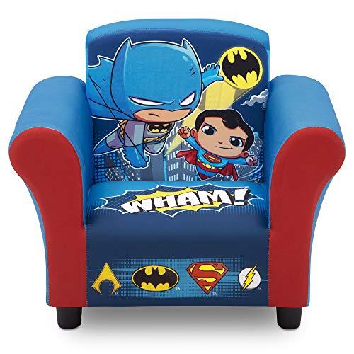 Delta Children Upholstered Chair, DC Super Friends | Superman | Batman | The Flash | Aquaman