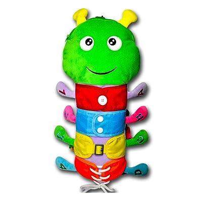 YIISUN Montessori Learn to Dress Zip Snap Butto...