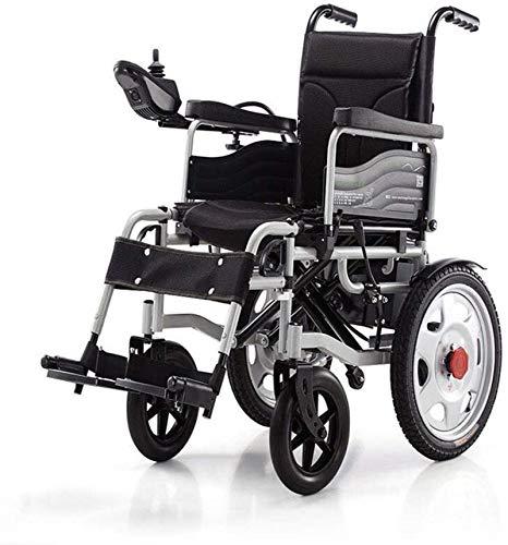 Silla de ruedas eléctrica plegable Silla de ruedas de rehabilitación médica, Silla de ruedas, Accionamiento eléctrico silla de ruedas plegable de peso ligero 34 kg, fuerte y durable for el uso, Sillas