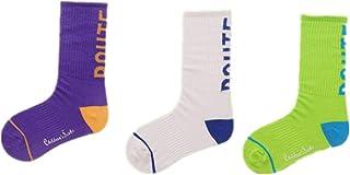 Hankyky, 3 juegos de calcetines para niños, en calcetines de tubo Traje de tres piezas Algodón Niños Niños Niñas Moda Carta Imprimir Primavera y otoño