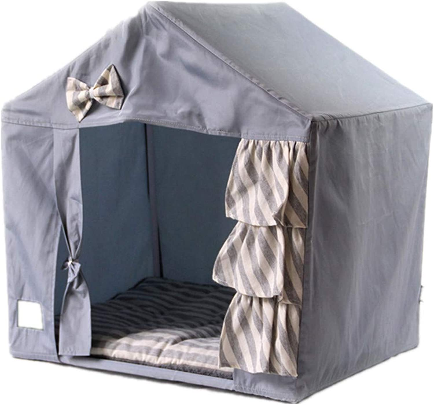 Mzdpp Pet Tent Washable And Detachable Four Seasons Universal Room Cat And Dog Universal Bed Nest Comfort 53  43  55Cm