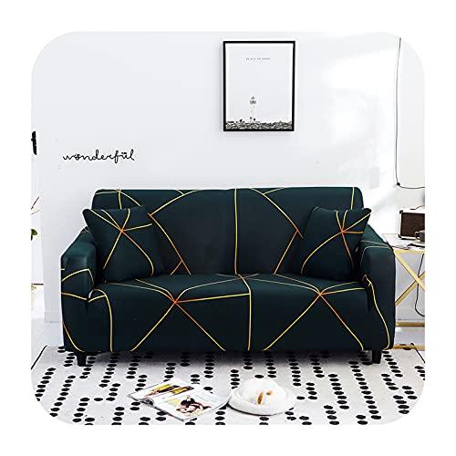 Funda elástica para sofá para sala de estar, antideslizante, elástica, funda de sofá seccional, en forma de L, funda de sillón de esquina de 1/2/3/4 plazas, color 4-1 asiento, 90-140 cm
