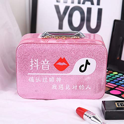 Net Red Make-Up Tas Trompet Portable Korea Simple Grote Capaciteit Opbergvak Product Girl Portable Travel Box Portable,A3