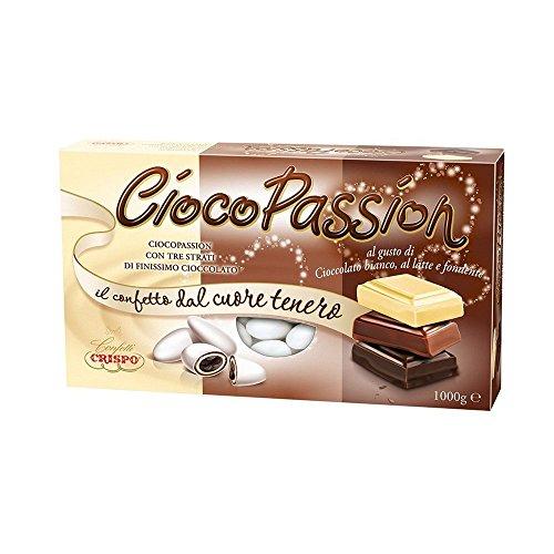 Crispo Confetti Cioco Passion Tre Strati di Cioccolato al gusto di ciocolato bianco, al latte e fondente, 1 kg