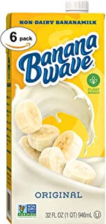 Banana Wave Dairy Free Banana Milk | Nondairy, 100% Plant Based Drink with Bananas and Oats | Low Calorie, Fat Free and Gl...