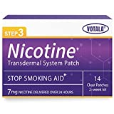 Votala Nature Nicotine Patches Step 3, 7mg Nicotine Delivered 24 hours Transdermal System, Stop Smoking Aid, Quik Smoking, 14 Patches, 2-week Kit, Step 3