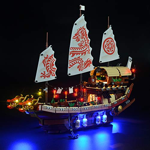LIGHTAILING Licht-Set Für (Ninjago Ninja-Flugsegler) Modell - LED Licht-Set Kompatibel Mit Lego 70618(Modell Nicht Enthalten)