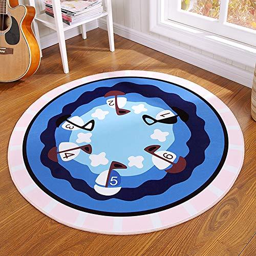 CHENG Runder Teppich-moderner geometrischer Entwurf-Teppich-zeitgenössische Baby-Spielmatte,diameter180cm