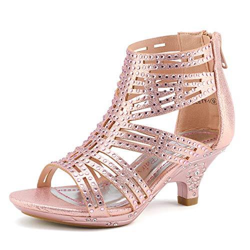 DREAM PAIRS Little Kid Sweety-1 Pink Low Heel Dress Pump...