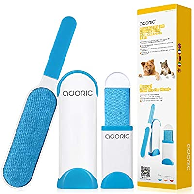 Adoric Pet Hair Remover, Pet Fur Remover, Easy and Effective Removal of Dogs, Cats and Other Hairs from Clothing, Furniture & More, Reusable, Cost-effective and Eco Friendly