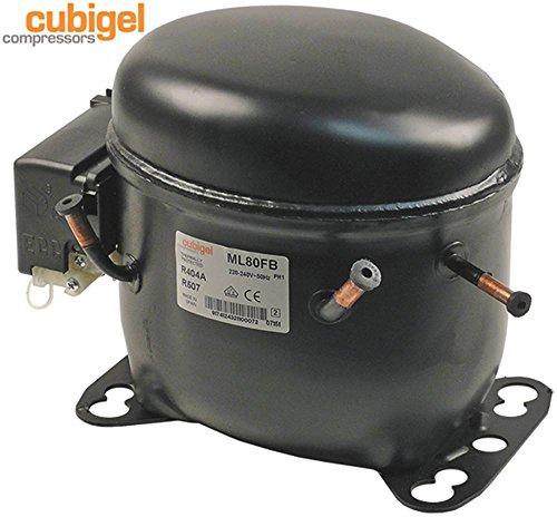 Compressore ML80FB 50Hz 10,9kg Altezza 185mm 8,1 cm3 refrigerante R404a/R507 1/4 HP 450W 401W 356W 314W 276W CSIR 220-240V ASHRAE