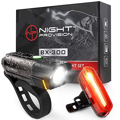 NP NIGHT PROVISION BX-300 USB Rechargeable LED Bike Light...