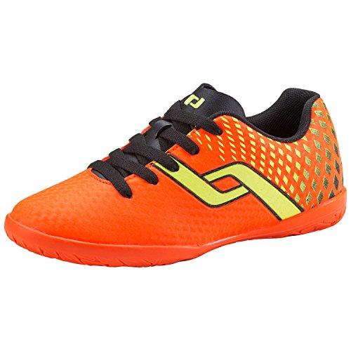 Pro Touch Unisex-Kinder Fußballhallenschuh Indigo IN Jr. Fußballschuhe, Orange (Orange/Black/Yellow 000), 34 EU