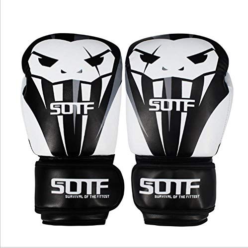 BOZHUO Kinder Boxhandschuhe Fighting Fitness Handschuhe 8Oz 10Oz 12Oz Kampfhandschuhe Heavy Bag Boxhandschuhe,Weiß,12oz