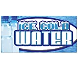 ICE Cold Water Concession Decal Bottled menu Sign Stand