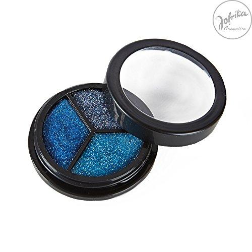 Rubies - 712108 - Trio Glitter Ice Edition * Jofrika Cosmetics * Tons bleus et argentés * Maquillage/corps
