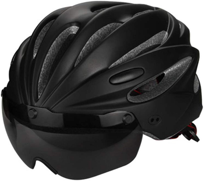 Bicycle Helmet with Goggle Mountain Sports Cycling Helmet Men Women Teens Adjustable Lightweight Predective Helmet