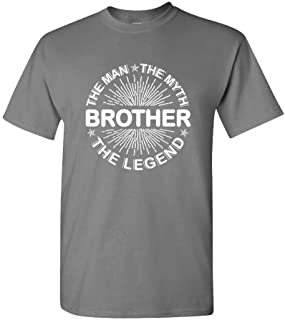 The Man The Myth The Legend - Brother - Mens Cotton Tee, 3XL, Charcoal