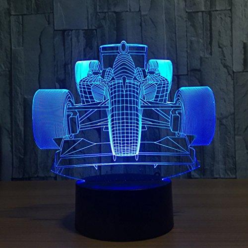 Zcxbhd verjaardag cadeau 3D licht 2 functies 7 kleuren RGB bont USB opladen luier nacht licht lamp acryl kristal paneel flits decoratieve lamp (kleur, aanraking)