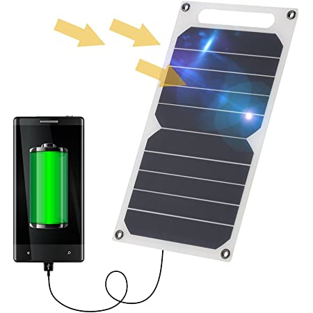 Lixada Solar Panel Charger USB Port Portable High Power Paper Shaped Monocrystalline Silicon for Cell Phone Camping
