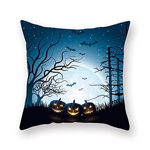 Cxcdxd Almohada de Lino Decorativa de Halloween Decoraciones de sofá Almohada de 18 × 18 Pulgadas para sofá Sofá niños (se Incluyen Inserciones)