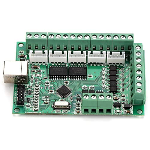 MACH3 Interface Board, Pwm Output USB Interface Board, Analog Voltage Output Durable Portable for Windows Systems Laptops MACH3 software Tablets