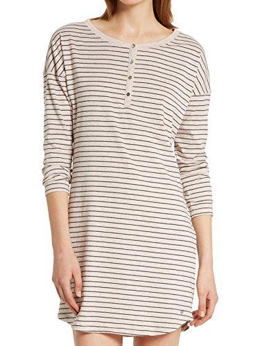 Marc O'Polo Body & Beach Damen Nachthemd SLEEPSHIRT LS HENLEY, Gr. 42 (Herstellergröße: XL), Mehrfarbig (rosa-mel. 505)